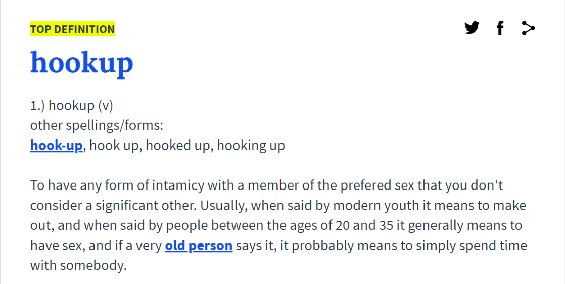 Hook up culture meaning