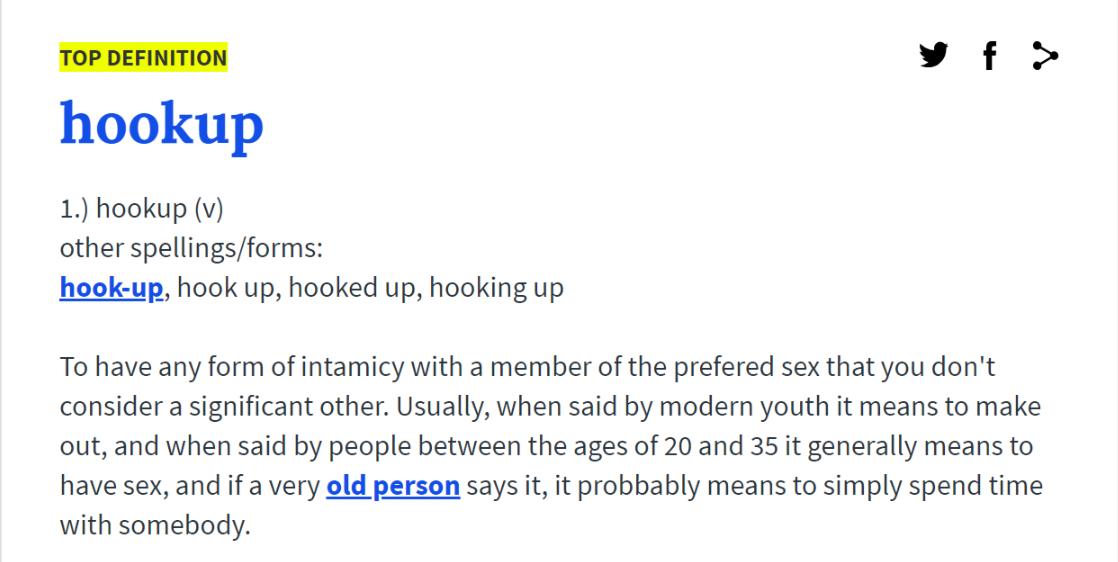 Slang betyder for hook up
