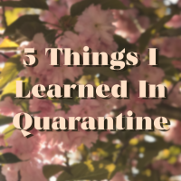 5 Things I Learned in Quarantine