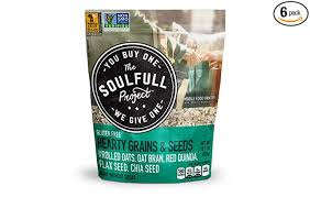 Amazon.com : The Soulfull Project Instant Oatmeal Multi-Serve Bag, Hearty  Grains & Seeds, 14.1 Ounce (Pack of 6), Non GMO, Gluten Free, Vegan :  Grocery & Gourmet Food